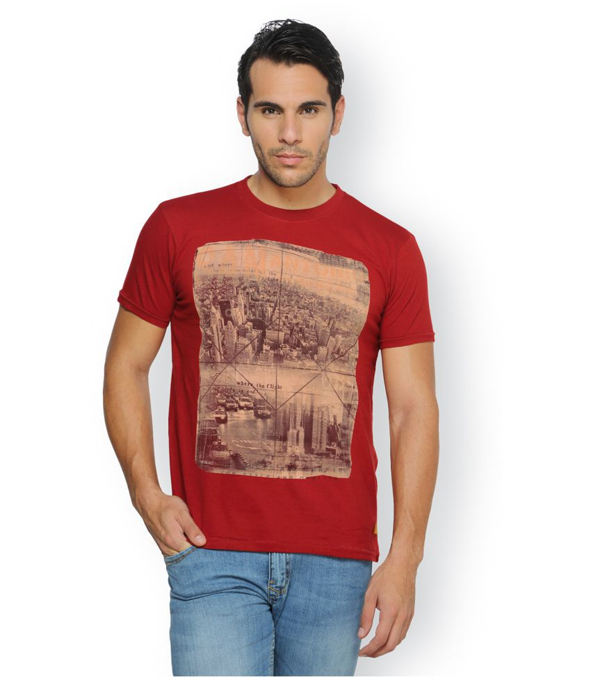 Ferrous Jeans Red Round T-Shirt
