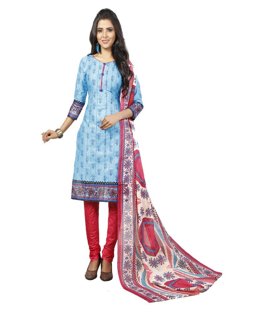 MINU Blue Cotton Straight Stitched Suit