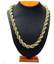 Onnet 1 Gram Gold Plated Thick Roap Chain For Men (CN016)