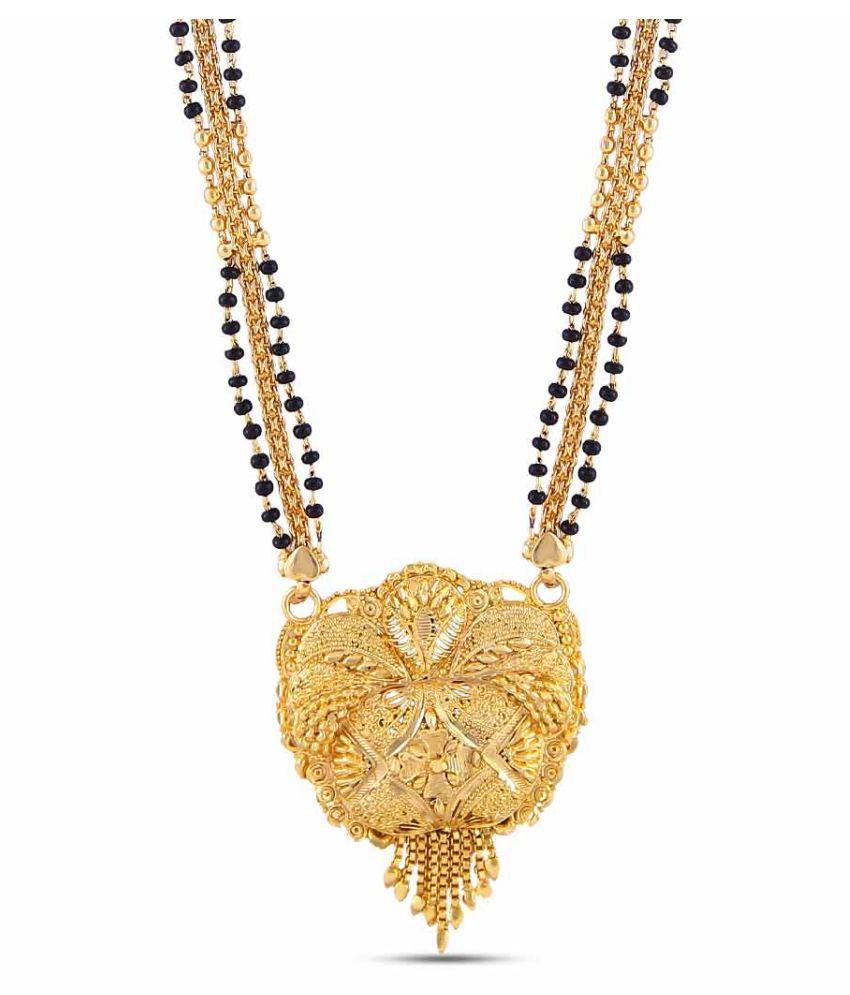 Jewlot (Group of Kalyani Covering)Gold Plated Mangal Sutra/ karuka mani for Women and Girls