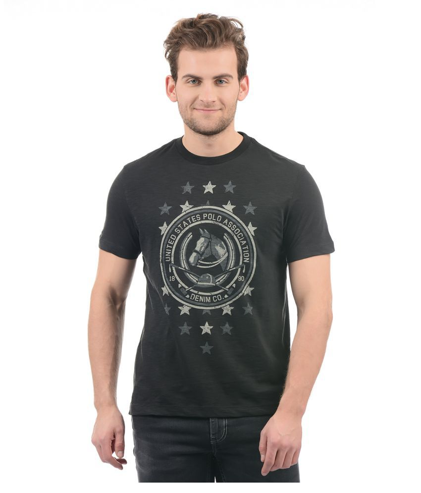 U.S. Polo Assn. Black Round T-Shirt