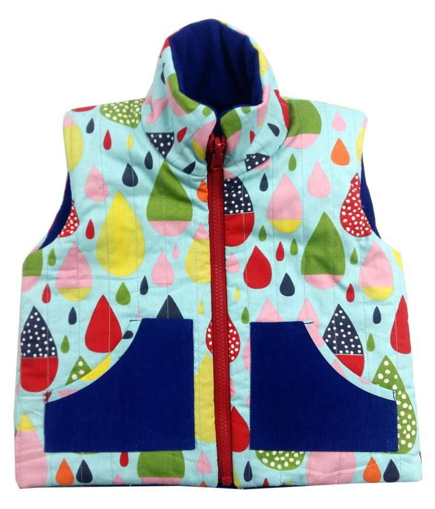 Girls Rain drop Blue Corduroy Jacket