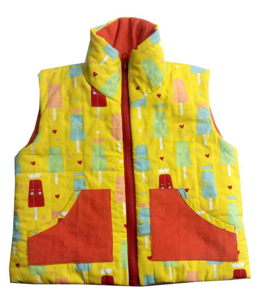 Girls Yellow Ice-cream Orange Corduroy Jacket