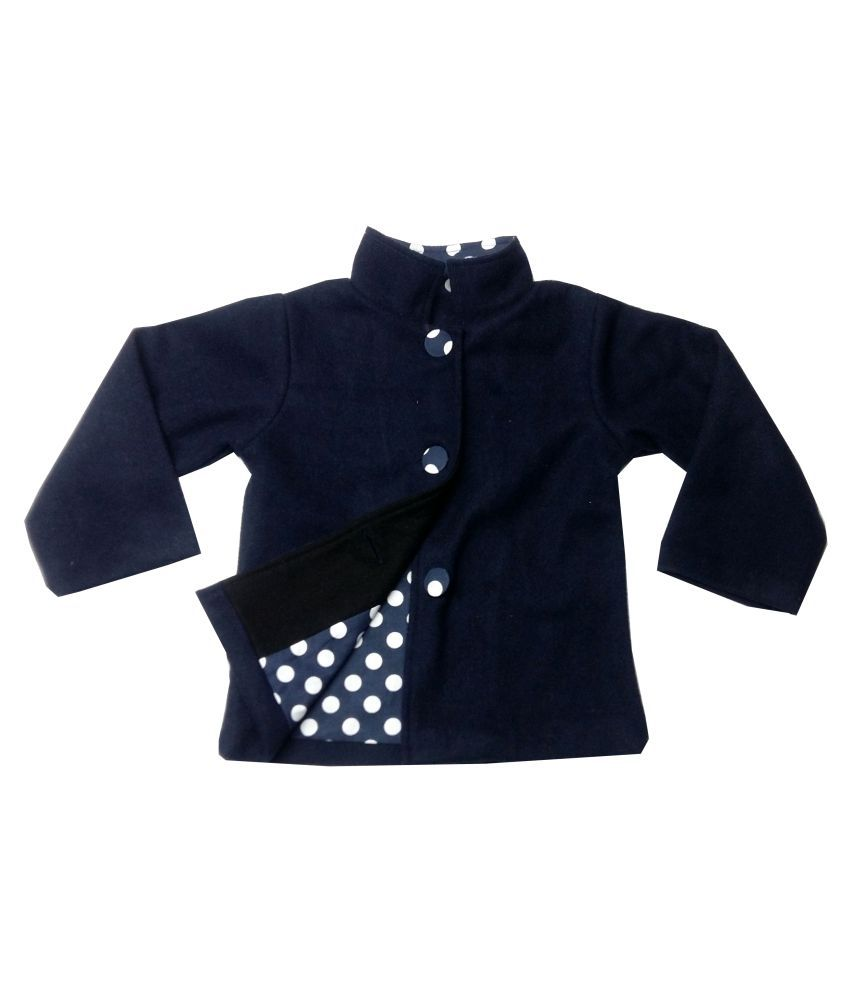 Always Kids Navy Wool Emma Coat
