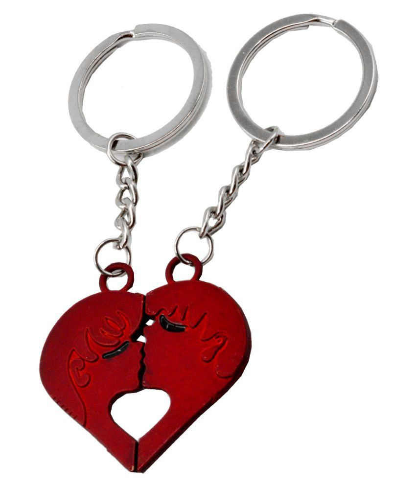Faynci Couple Kissing Theme of True loves His and Her Souvenir Valentine Day Gift Key Chain