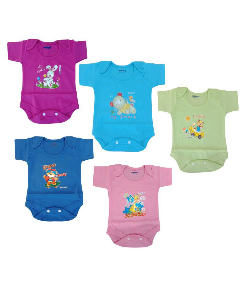 06953e440 Pack Of 5 ) - Buy Xchildhood Newborn Baby Romper & Jumpsuit Set .( Pack Of  5 ) Online at Low Price - Snapdeal