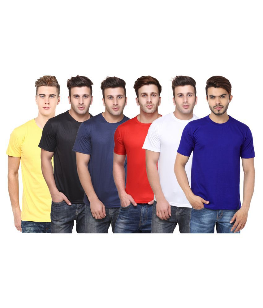 CONCEPTS Multi Polyester T-Shirt Pack of 6