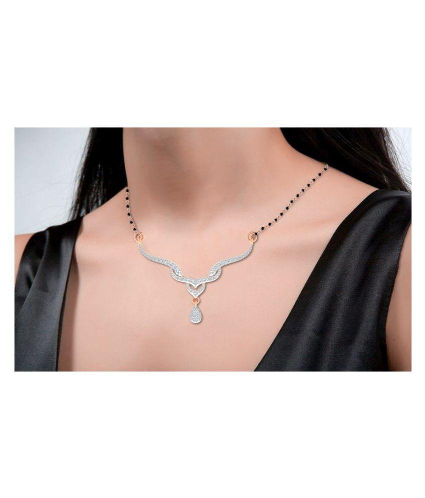 His & Her 14k Rose Gold Diamond Mangalsutra