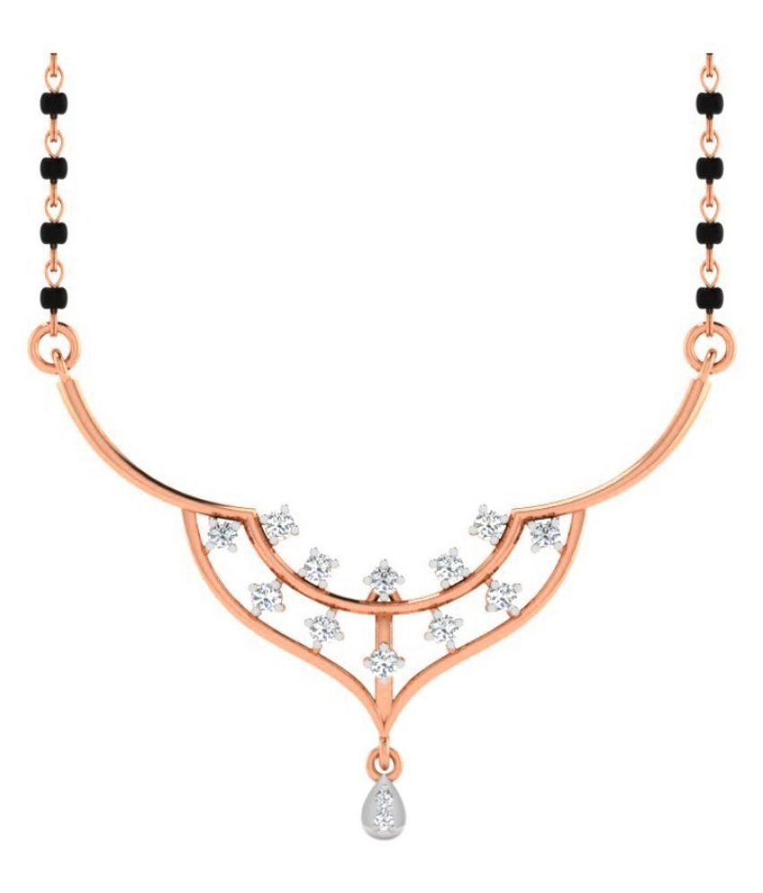 His & Her 14k Rose Gold Diamond Mangalsutra
