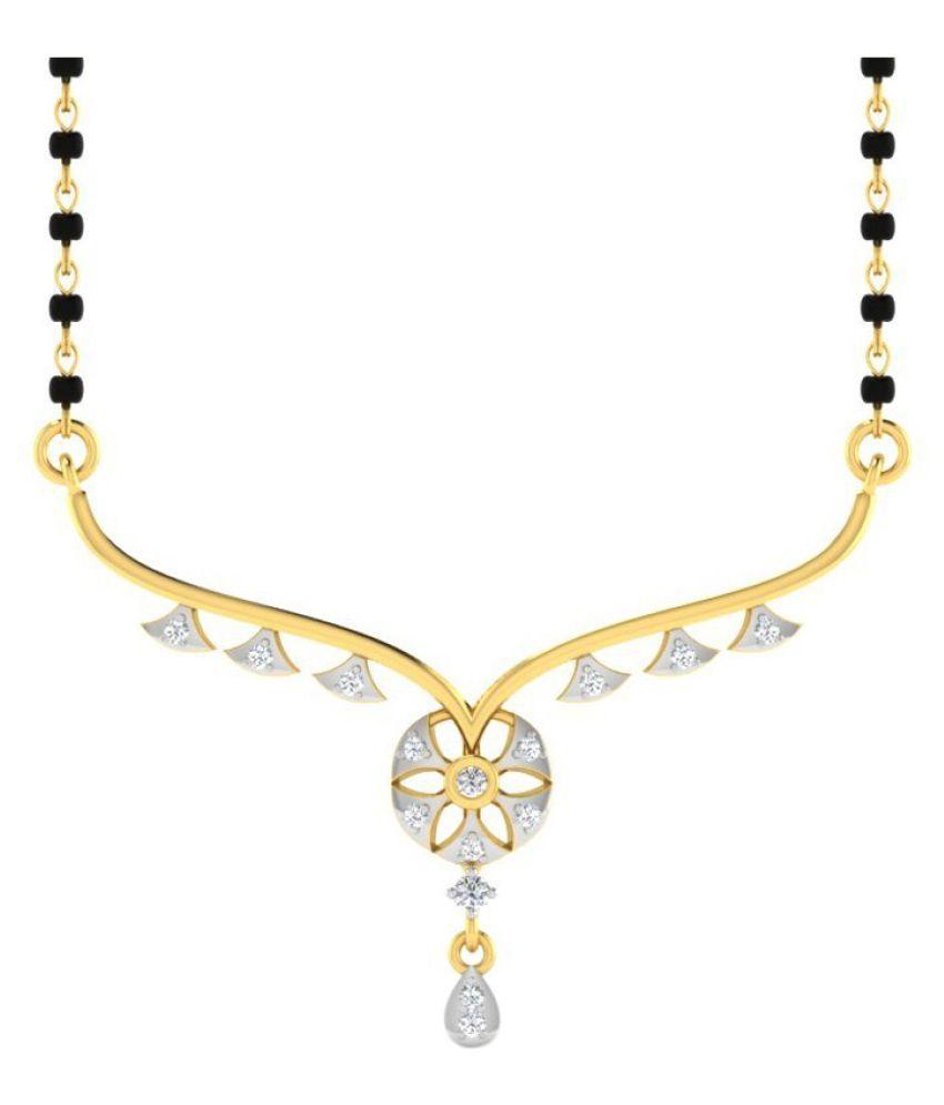 His & Her 14k Yellow Gold Diamond Mangalsutra