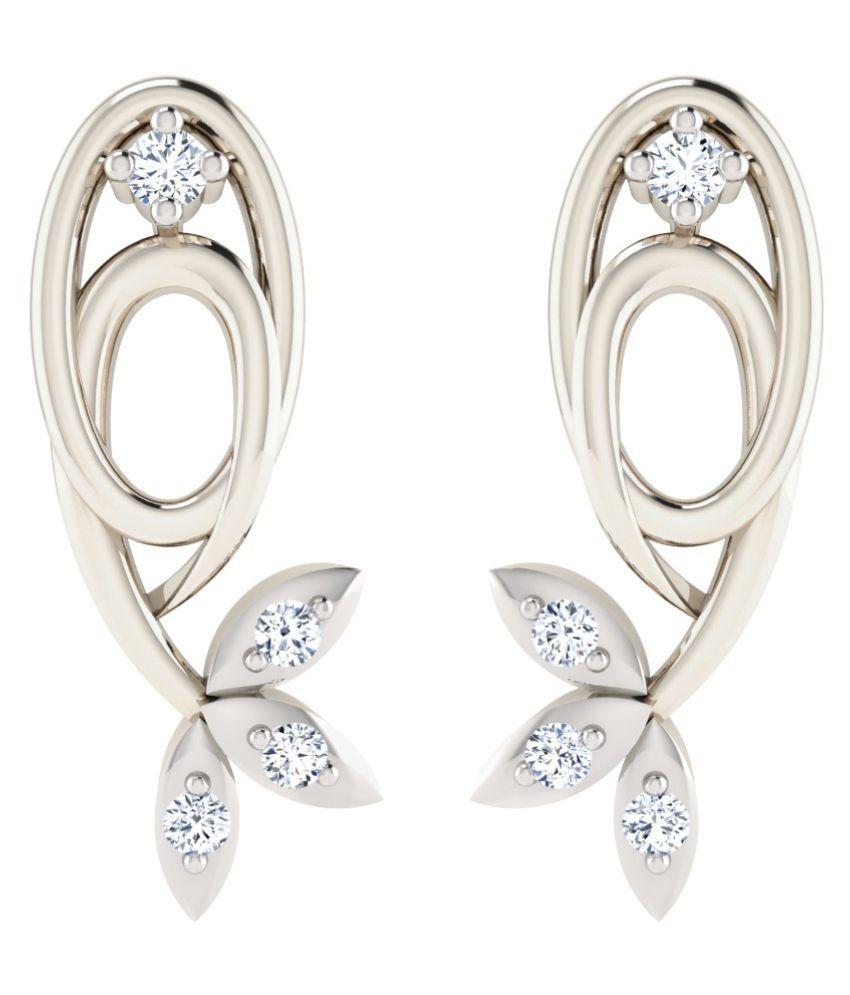 His & Her 18k BIS Hallmarked White Gold Diamond Studs