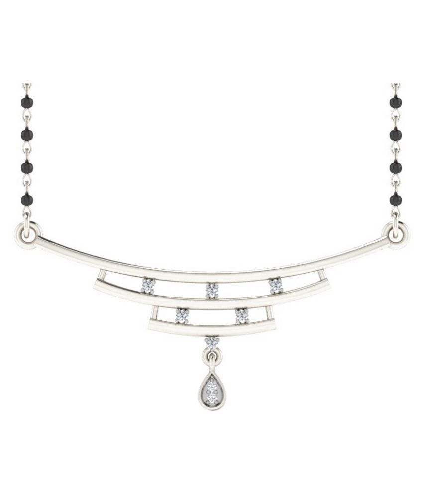 His & Her 14k White Gold Mangalsutra