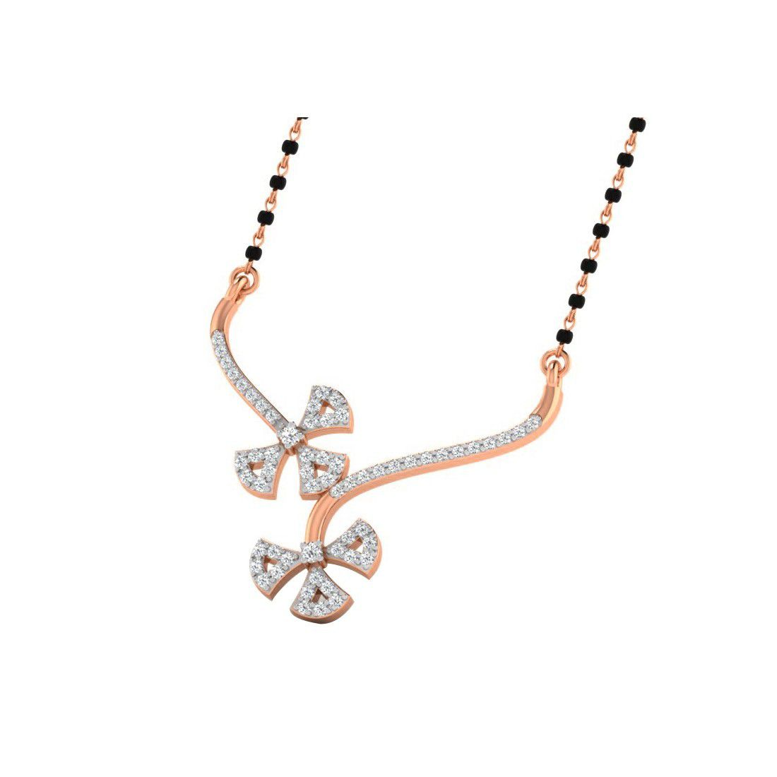 His & Her 18k Rose Gold Mangalsutra