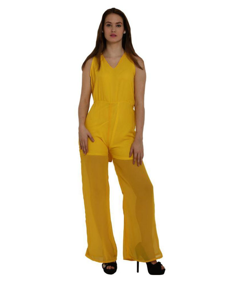 Fascinating Lingerie Polyester Yellow Beach Dresses