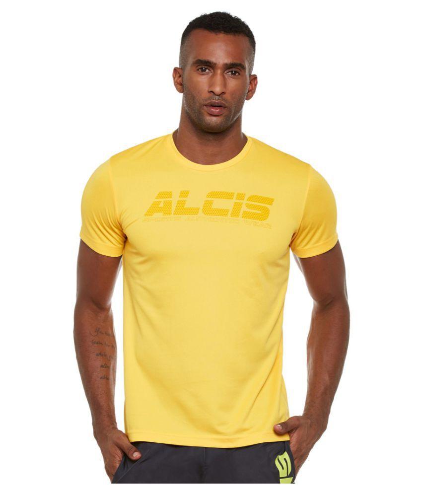 Alcis Men Printed Yellow Tee
