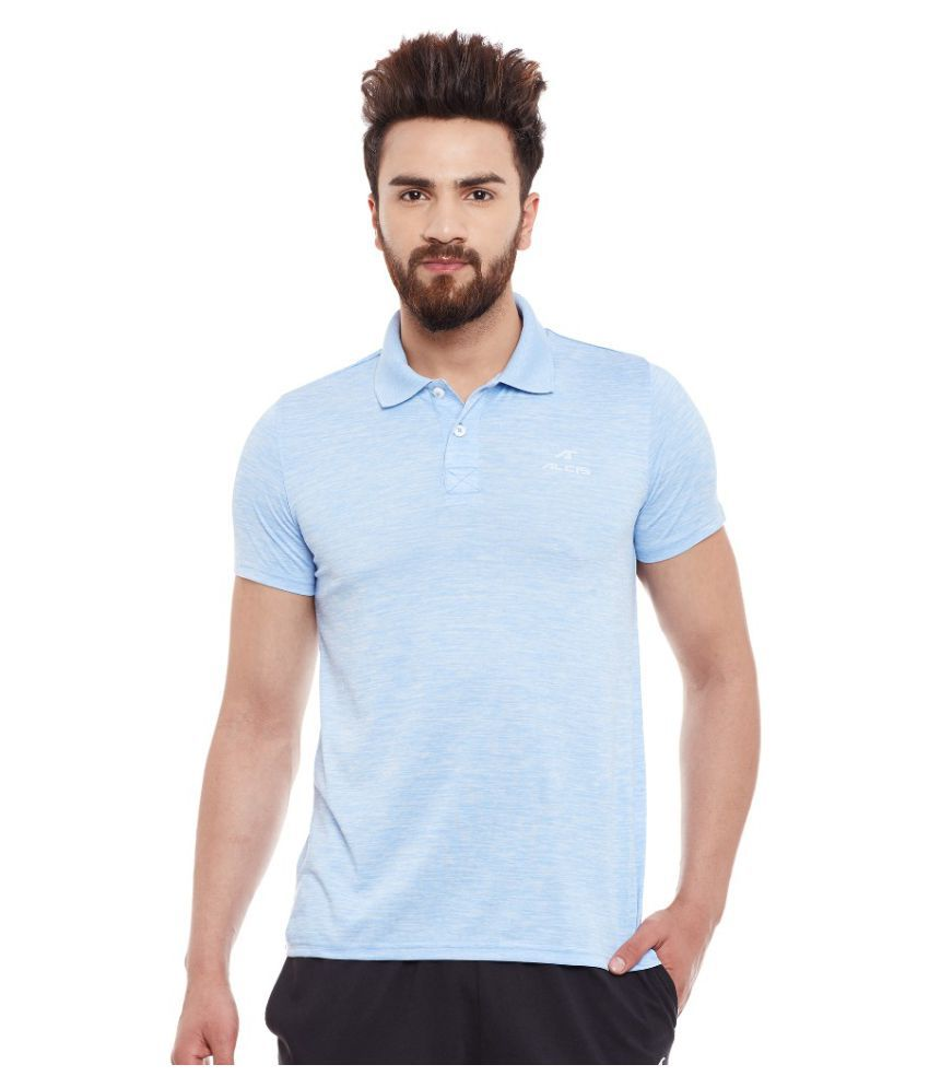 Alcis Men Solid Blue Polo