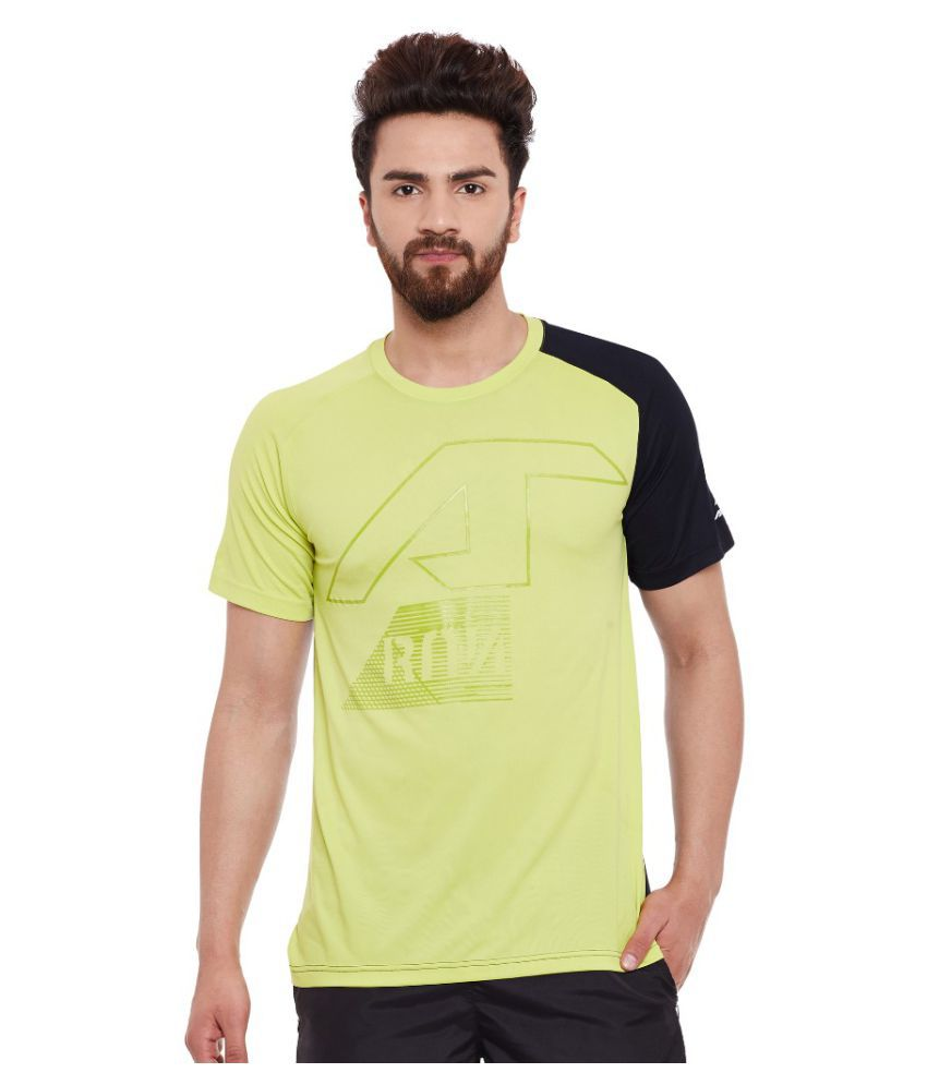 Alcis Men Solid Green Tee