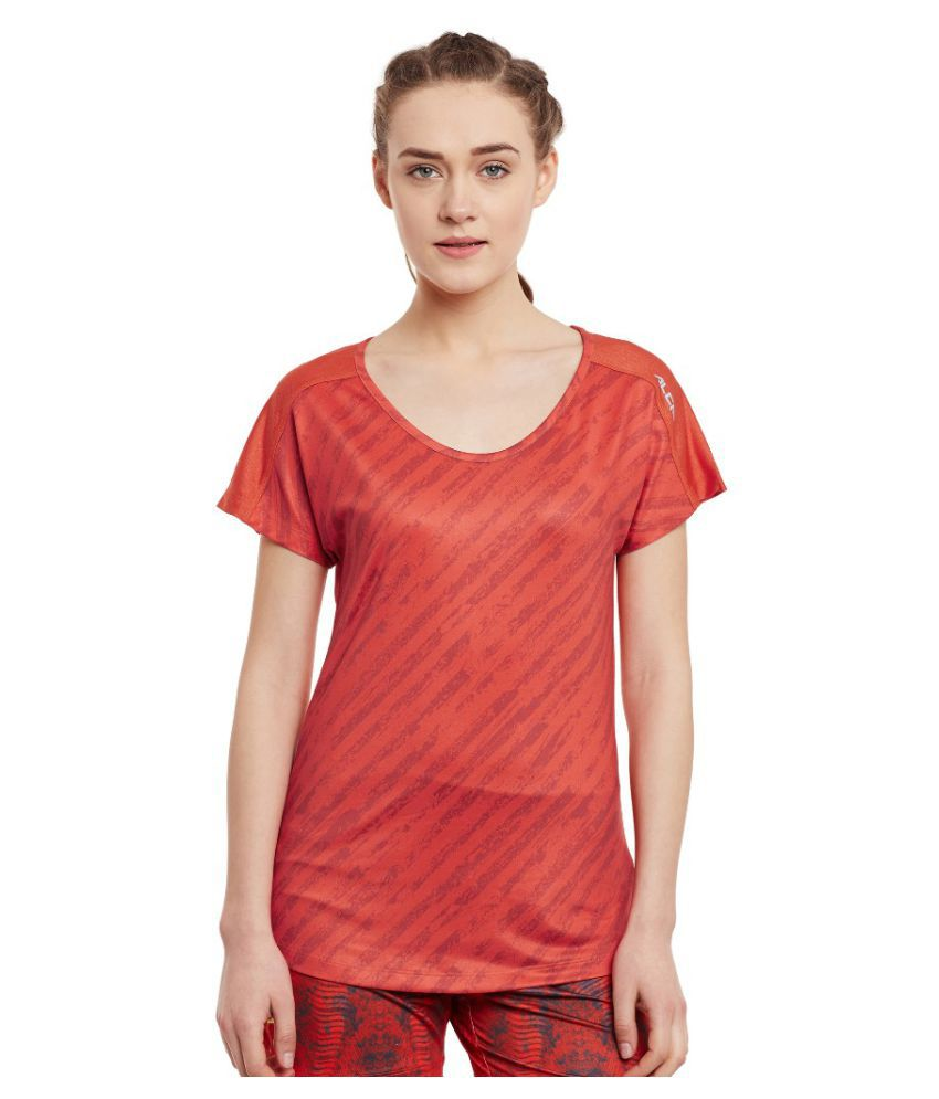 Alcis Women Printed Red Tee