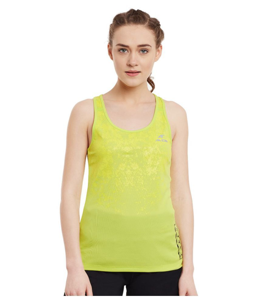 Alcis Women Printed Yellow Tank