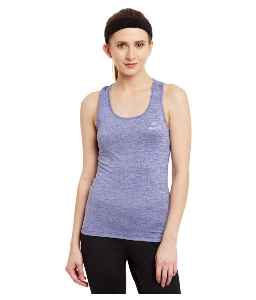 Alcis Women Solid Purple Top