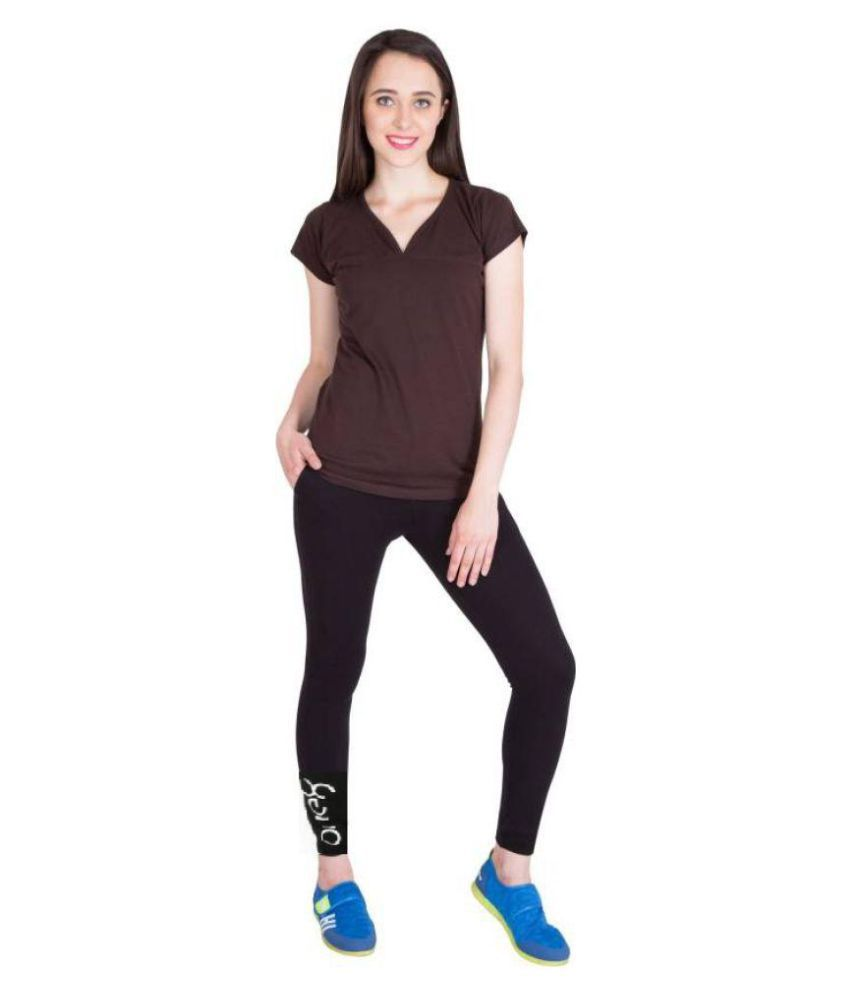 Alini Solid black Track-pant for Women & Ladies (With Nike logo signature)