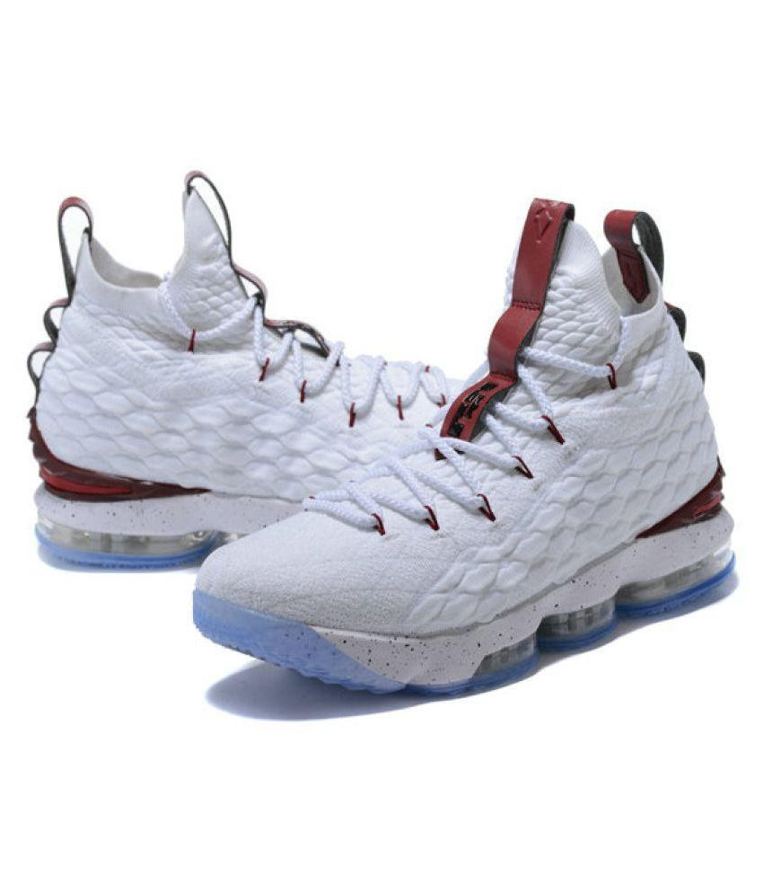 629e437846e Nike lebron james 15 White Running Shoes - Buy Nike lebron james 15 White  Running Shoes Online at Best Prices in India on Snapdeal