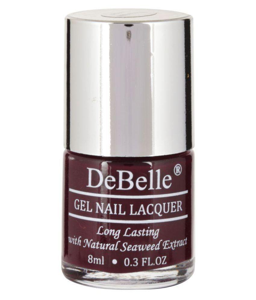 DeBelle Nail Polish Maroon,Glitter,Shimmer,DarkBrown Glossy 32 ml ...