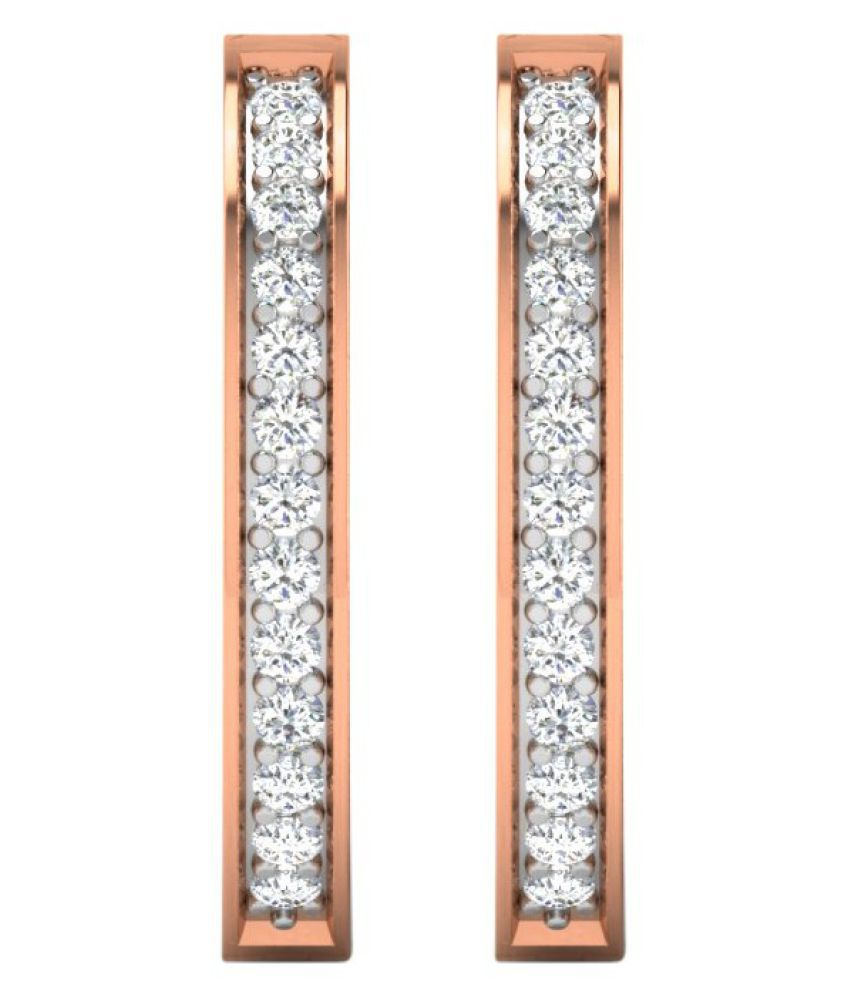 His & Her 14k Rose Gold Diamond Hoop