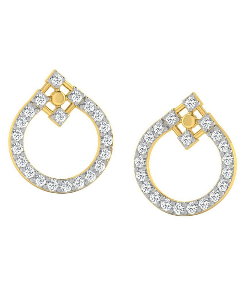 His & Her 14k Yellow Gold Diamond Drop Earrings