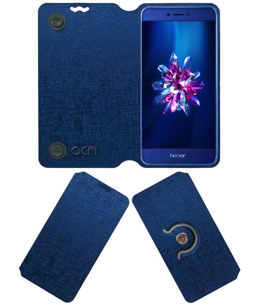 huge selection of ee39d 2baf4 Honor 9 Lite Flip Cover by ACM - Blue
