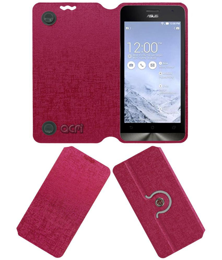 Asus Zenfone 5 Flip Cover by ACM - Pink