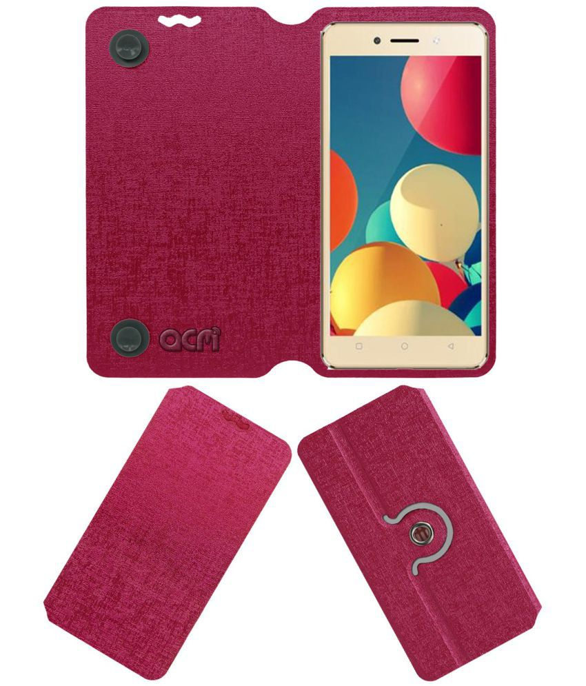 the latest 09777 e08e7 ITEL WISH A41 PLUS Flip Cover by ACM - Pink