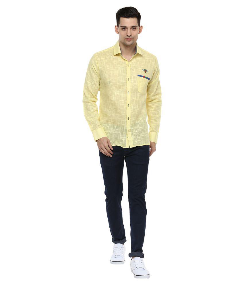 Lobster Yellow Regular Fit Shirt