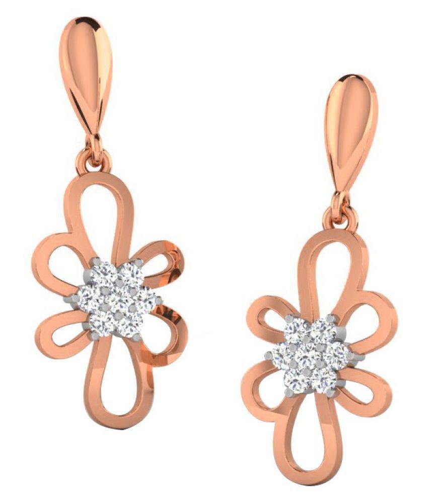 His & Her 14k Rose Gold Diamond Hangings