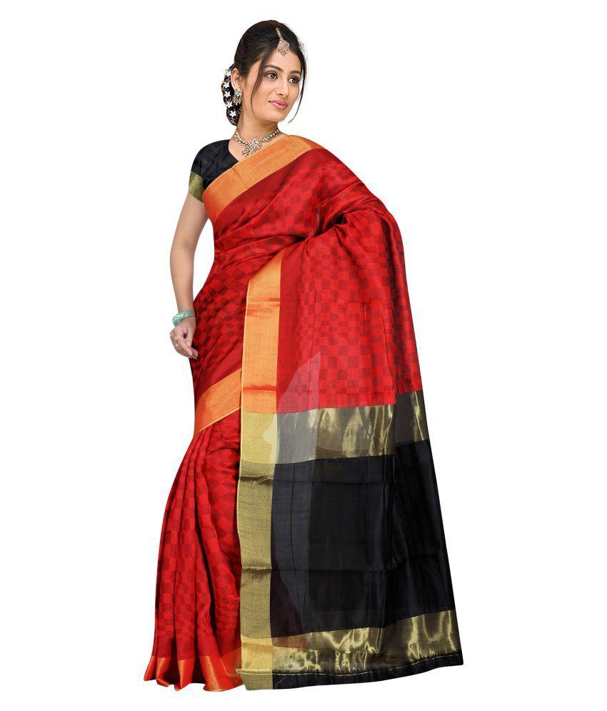 Indian Fashionista Red Silk Saree