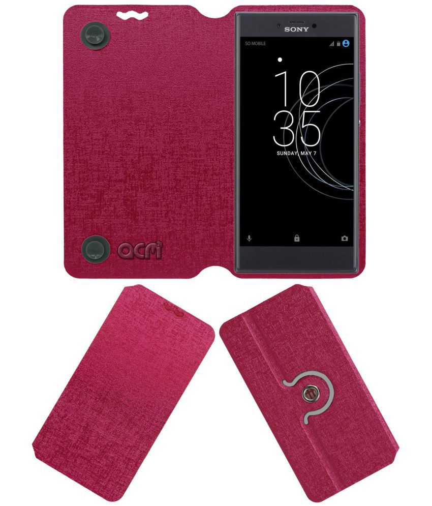 official photos e9b5e 35f4a Sony Xperia R1 Plus Flip Cover by ACM - Pink
