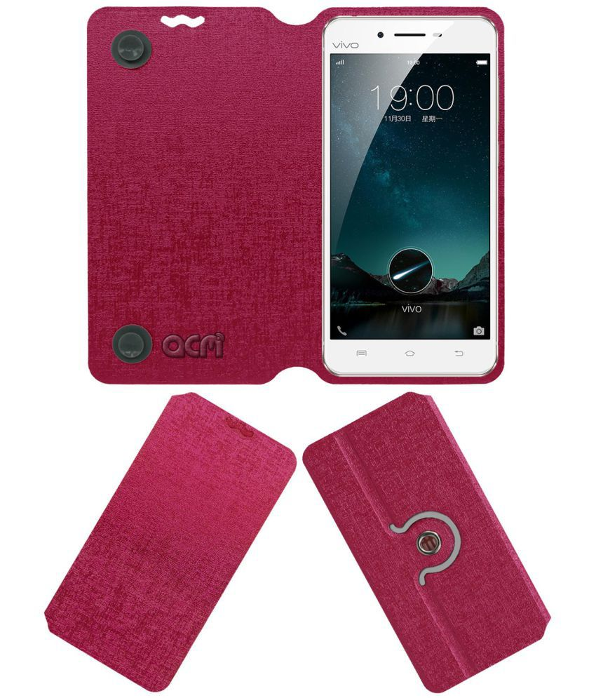 Vivo X6 Flip Cover by ACM - Pink
