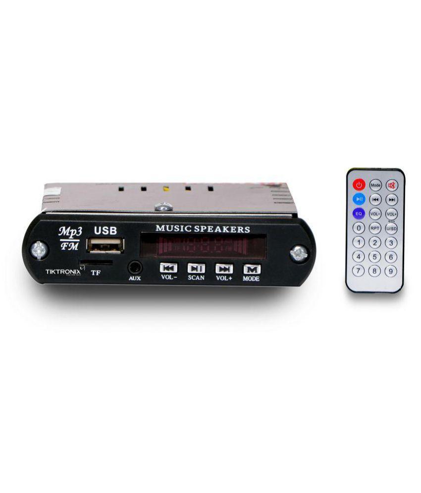 Single DIN Mini Car Stereo with AUX Jack, USB Slot, Memory Card Slot & FM