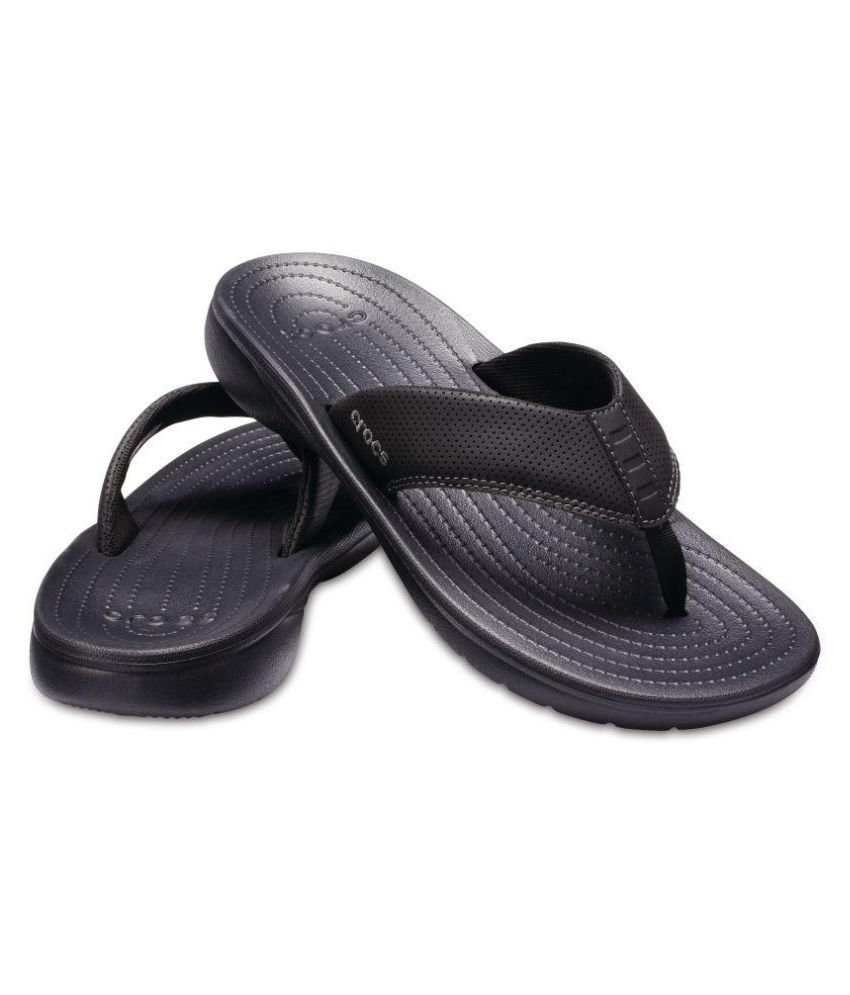 3fd58b03861a Crocs Men Bogota Black Daily Slippers Price in India- Buy Crocs Men Bogota  Black Daily Slippers Online at Snapdeal