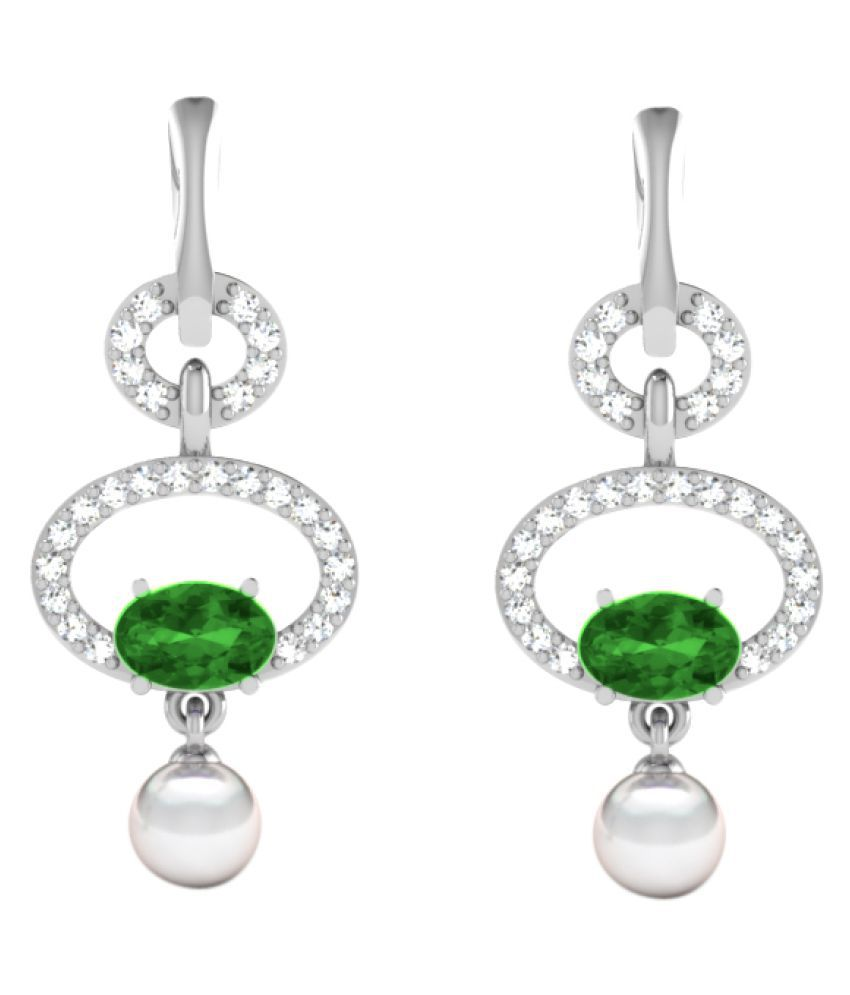 His & Her 92.5 Silver Emerald Hangings