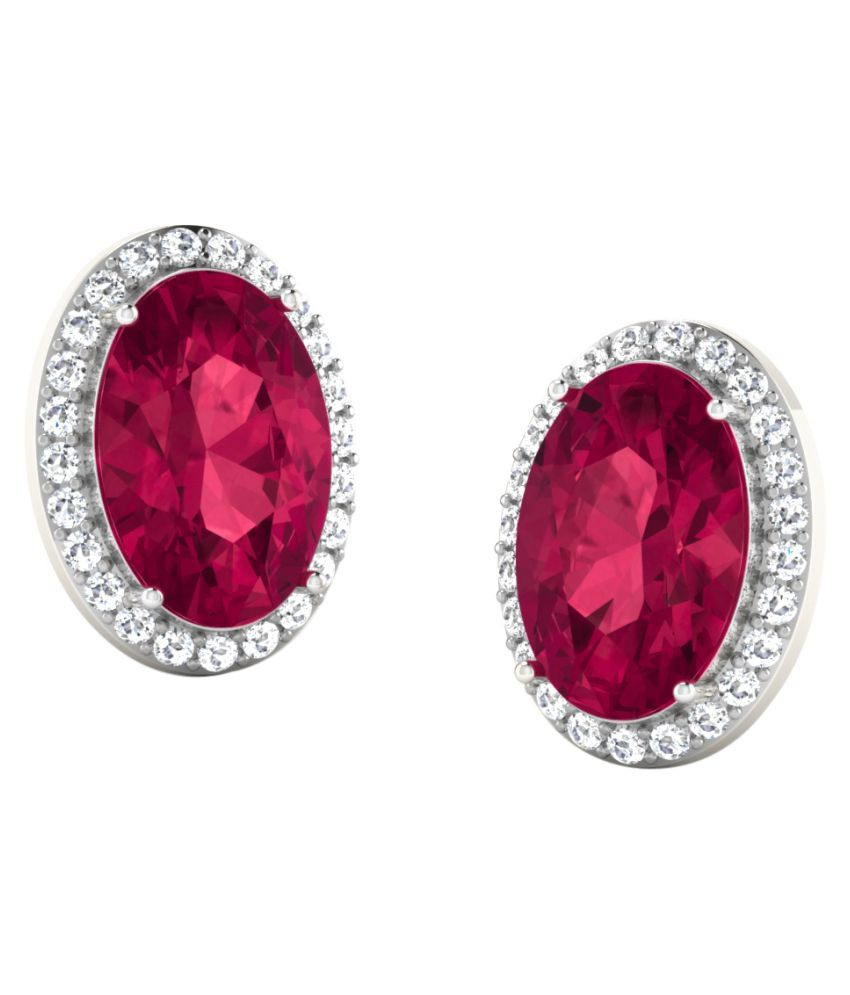 His & Her 92.5 Silver Ruby Studs