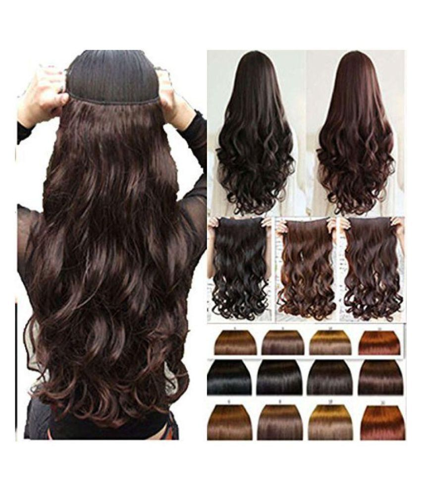 Lee Cosmo Curly Clip In Hair Extension Dark Brown Buy Lee Cosmo