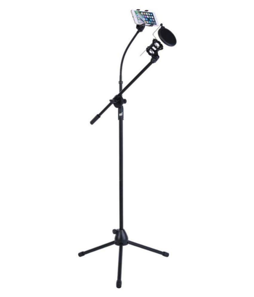 buy smiledrive mic stand with mobile holder speaker stand online at rh snapdeal com