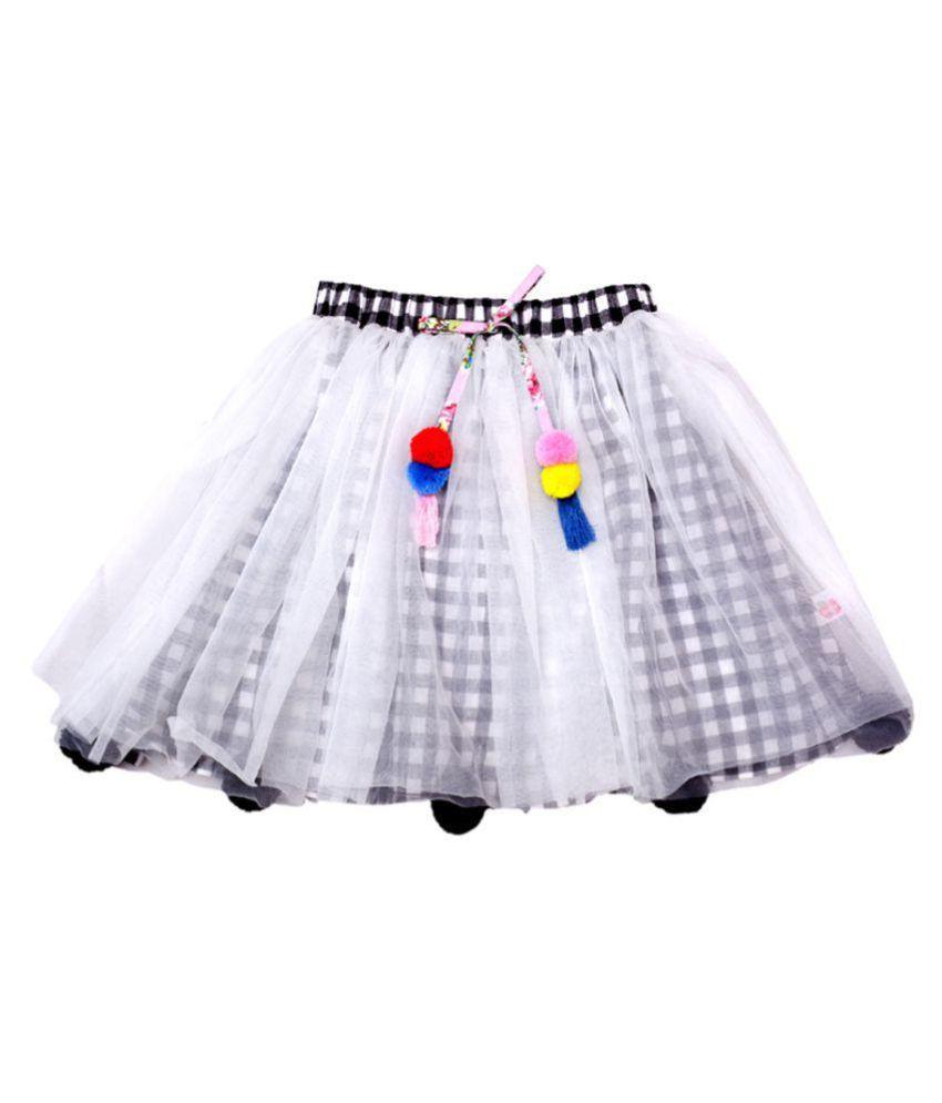 Always Kids Black Check Poppy Skirt