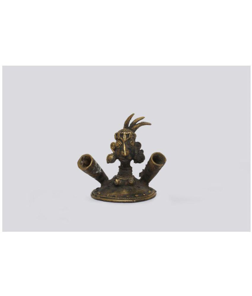 Tribes India Gold Brass Handicraft Showpiece - Pack of 1
