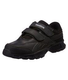 Reebok Racer II KC - Black School Shoe