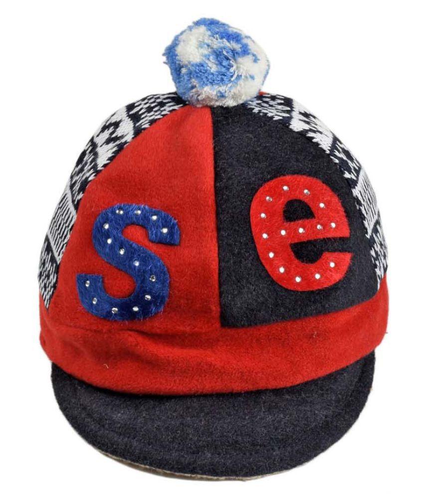 Tiekart Smart Blue Designer Winter Warm Woolen cap for Kids