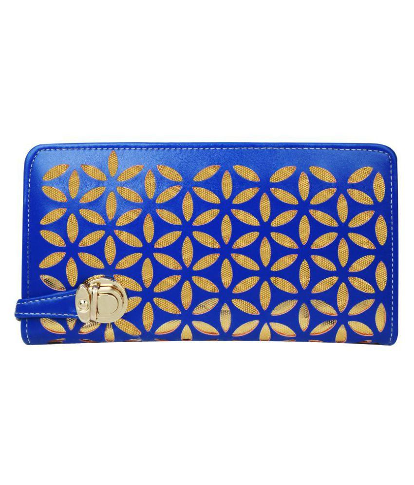 EMOSHA Blue Faux Leather Handheld
