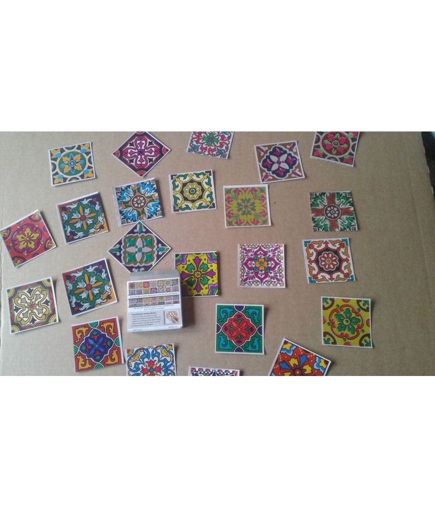 decorze wall tiles stickers floral sticker 7 x 7 cms buy rh snapdeal com