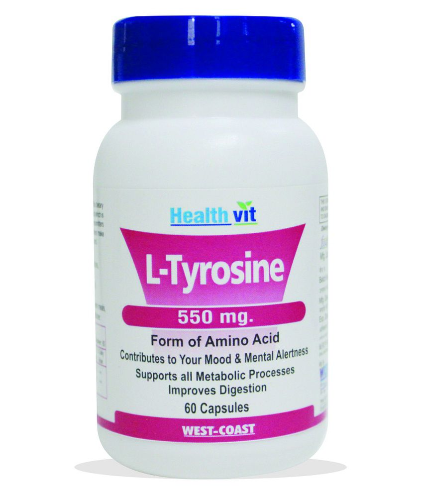 Healthvit L-tyrosine 550 Mg 60 Capsules